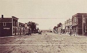 Doon, Iowa - Main Street in 1922