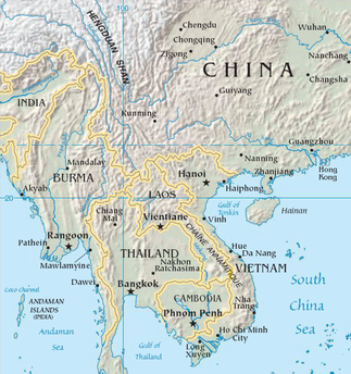 Map Of China And Southeast Asia.Mainland Southeast Asia Linguistic Area Wikipedia