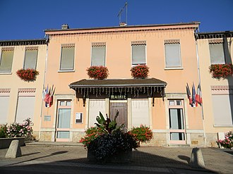 Anthon, Isère - The town hall of Anthon