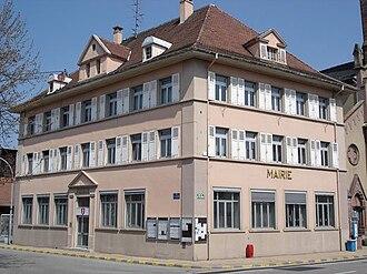 Village-Neuf - The town hall in Village-Neuf