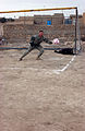 Maj. Masaracchia Reaches for a Soccer Ball DVIDS11961.jpg