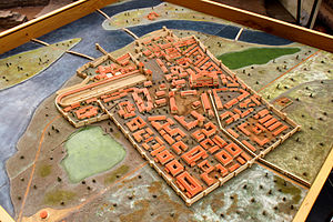 Sirmium - A scale model of Sirmium in the Visitors Center in Sremska Mitrovica.