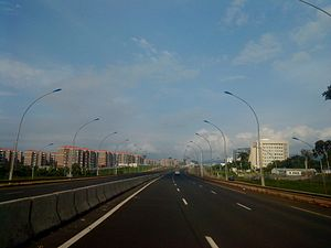 Malabo - One of the main roads in Malabo