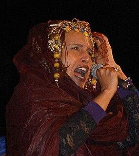 Malouma Mauritanian singer, politician