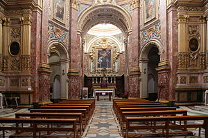 Annunciation Church, Mdina - Interior of the church