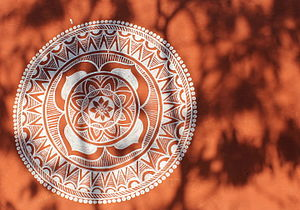 Mandana art work at shilpgram.JPG