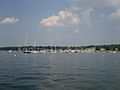 Manhasset Bay Yacht Club and Moored Boats 1.jpg