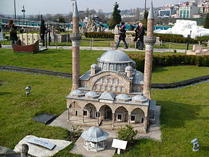 Muradiye Mosque - Model of Muradiye Mosque in Miniaturk, İstanbul.