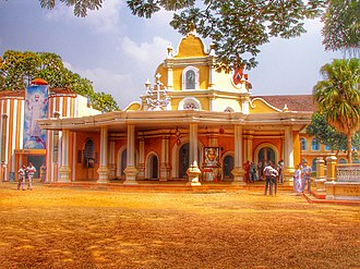 St. Joseph's Syro-Malabar Monastery Church, Mannanam, where the mortal remains of Kuriakose Elias Chavara are kept. Mannam Church.jpg
