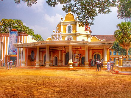 St. Joseph's Syro-Malabar Monastery Church, Mannanam where the mortal remains of Kuriakose Elias Chavara are kept. Mannam Church.jpg