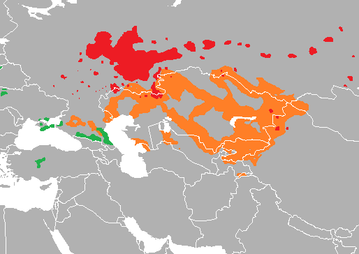 Map-Kypchak Language World