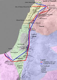land which, according to the Hebrew Bible, was promised by God to Abraham and his descendants