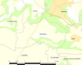 Mapa obce Cerseuil