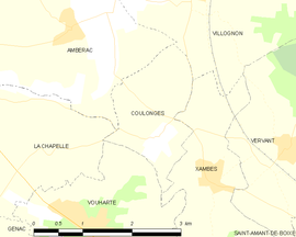 Mapa obce Coulonges