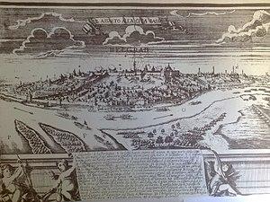 Siege of Belgrade (1688) - Image: Map of 1688 siege of Belgrade