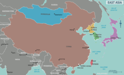 the countries of east asia also form the core of northeast asia which itself is a broader region