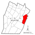 Map of East Providence Township, Bedford County, Pennsylvania Highlighted.png
