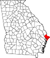 Map of Georgia highlighting Chatham County.svg