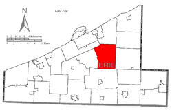 Location of Greene Township in Erie County