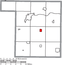 Location of Malinta in Henry County
