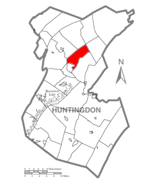 Oneida Township, Huntingdon County, Pennsylvania - Image: Map of Huntingdon County, Pennsylvania Highlighting Oneida Township