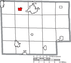 Location of Monroeville in Huron County