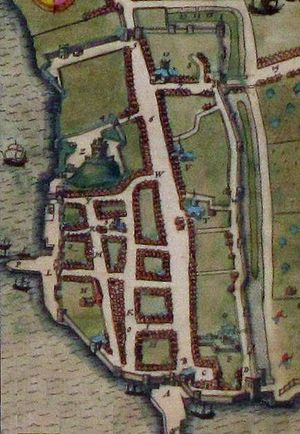 History of Southampton - John Speed's 1612 map of Southampton
