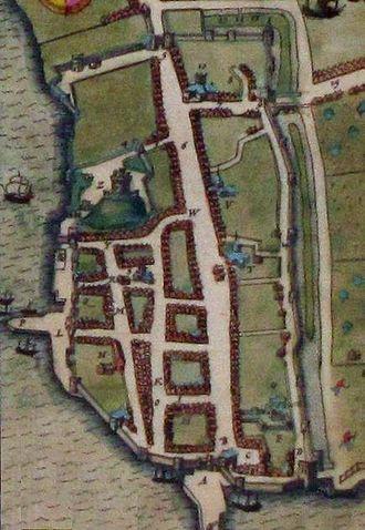 History of Southampton - John Speed's 1612 map of Southampton