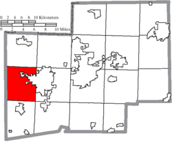 Location of Tuscarawas Township in Stark County