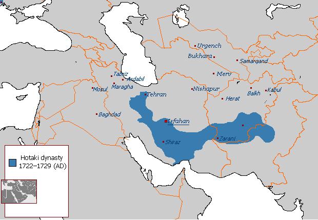Hotak Empire at its peak (1722–1729)