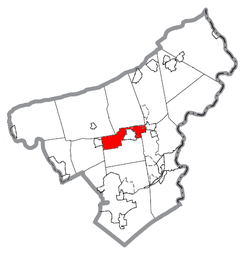 Location of Upper Nazareth Township in Northampton County, Pennsylvania