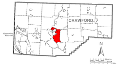 Map of West Mead Township, Crawford County, Pennsylvania Highlighted.png