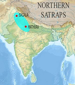 Northern Satraps - The Northern Satraps ruled the area from Eastern Punjab to Mathura.