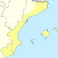 Mapa Segunda B Grupo III (con Murcia) 2012-13.png