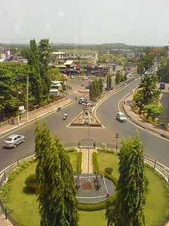 Mapusa town in Goa, India