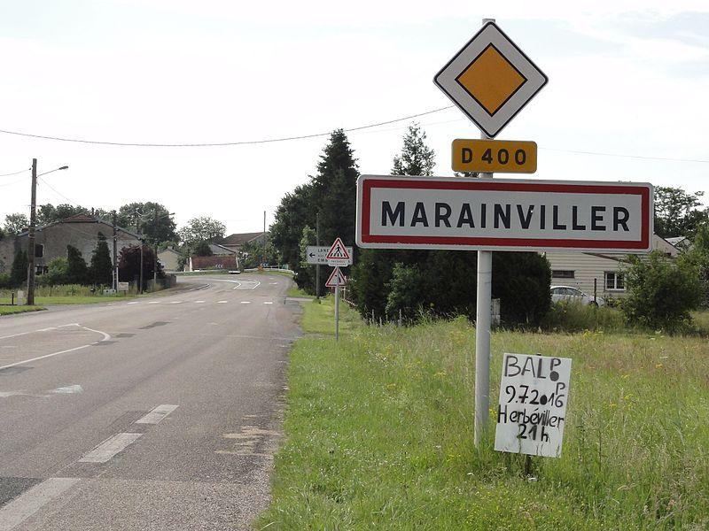 Marainviller (M-et-M) city limit sign