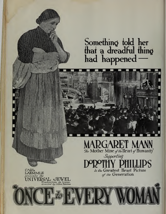 Margaret Mann - Mann in an ad for Once to Every Woman (1920)