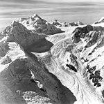 Margerie Glacier, tidewater glacier, icefall and cirque glaciers, September 18, 1972 (GLACIERS 5628).jpg