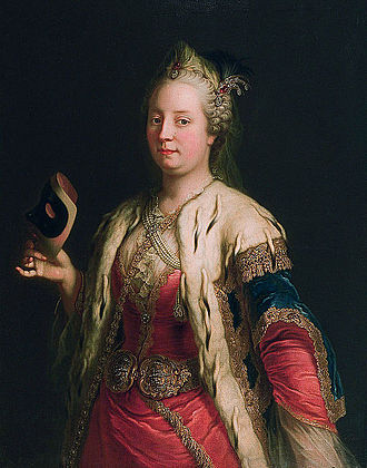 First Silesian War - Maria Theresa of Austria c. 1744, by Martin van Meytens