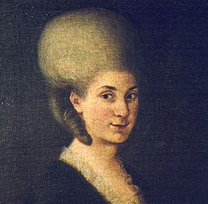 Maria Anna Mozart - Portrait of Maria Anna Mozart, c. 1785