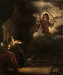 b4dfc08cfac6 The Annunciation by Salomon Koninck. Oil on canvas