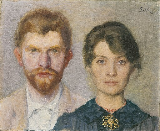 Marie Krøyer - Double portrait of Marie and P.S. Krøyer. The couple have portrayed one another - Google Art Project