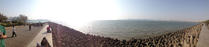 Panorama View of Marine Lines