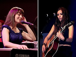M2M (band) - Marit Larsen (left) and Marion Raven (right)