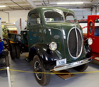 Marmon-Herrington - A 1940 Ford/Marmon-Herrington dump truck preserved at the Pacific Northwest Truck Museum, in Oregon