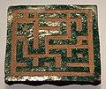 Marocco, mattonella cufica geometrica, XV-XVI sec ca..JPG