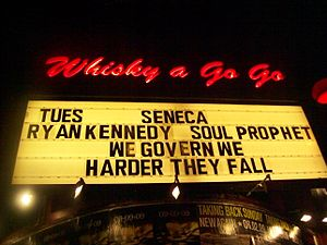 Marquee outside Whiskey a Go Go on the Sunset ...