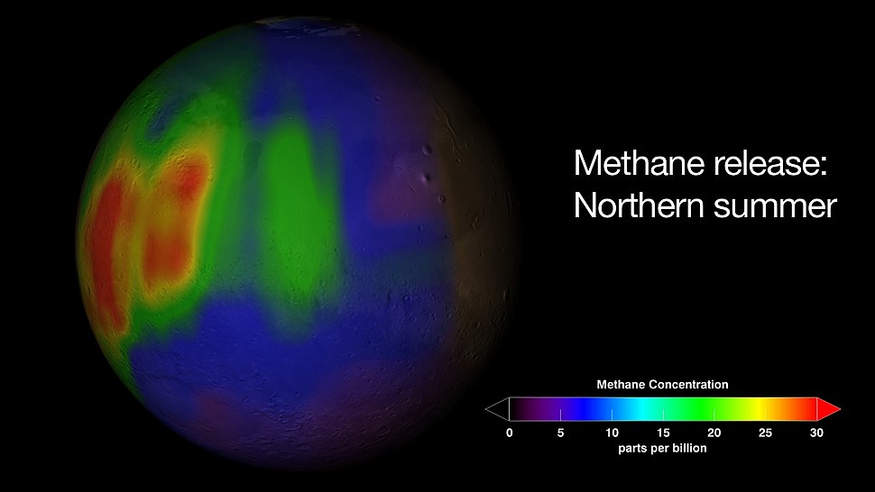 Martian Methane Map