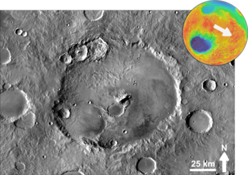 Martian impact crater Müller based on THEMIS Day IR.png