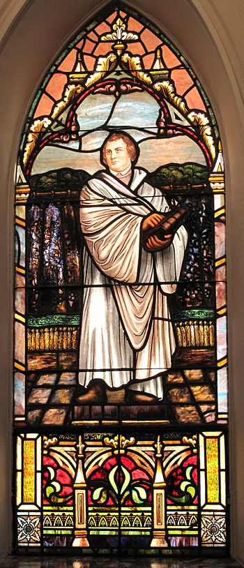 The Martin Luther window at St. Matthew's Luth...